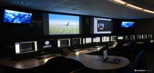 Salle de suivi des essais en vol